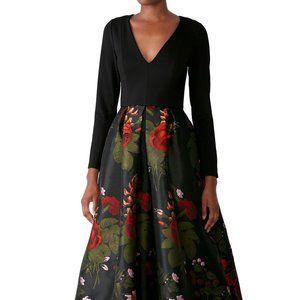 Hutch Marilyn high low floral print dress